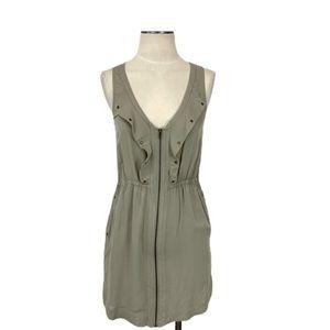 Ladakh- Light Sage Green Zip Dress Size 6